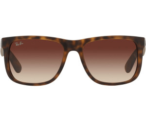 1237eef3bdc Buy Ray-Ban Justin RB4165 710 13 (havana rubber gradient brown) from ...