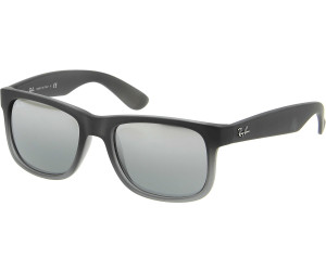 Ray-Ban Justin RB4165 852 88 (rubber grey transparent gray silver mirror) a  € 78,00   Miglior prezzo su idealo b715c63ee4