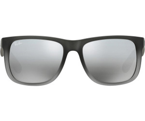 10cd427d90 ... 852 88 (rubber grey transparent gray silver mirror. Ray-Ban Justin  RB4165