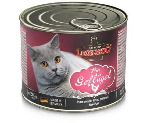 LEONARDO Cat Food Nassfutter Geflügel pur 200g