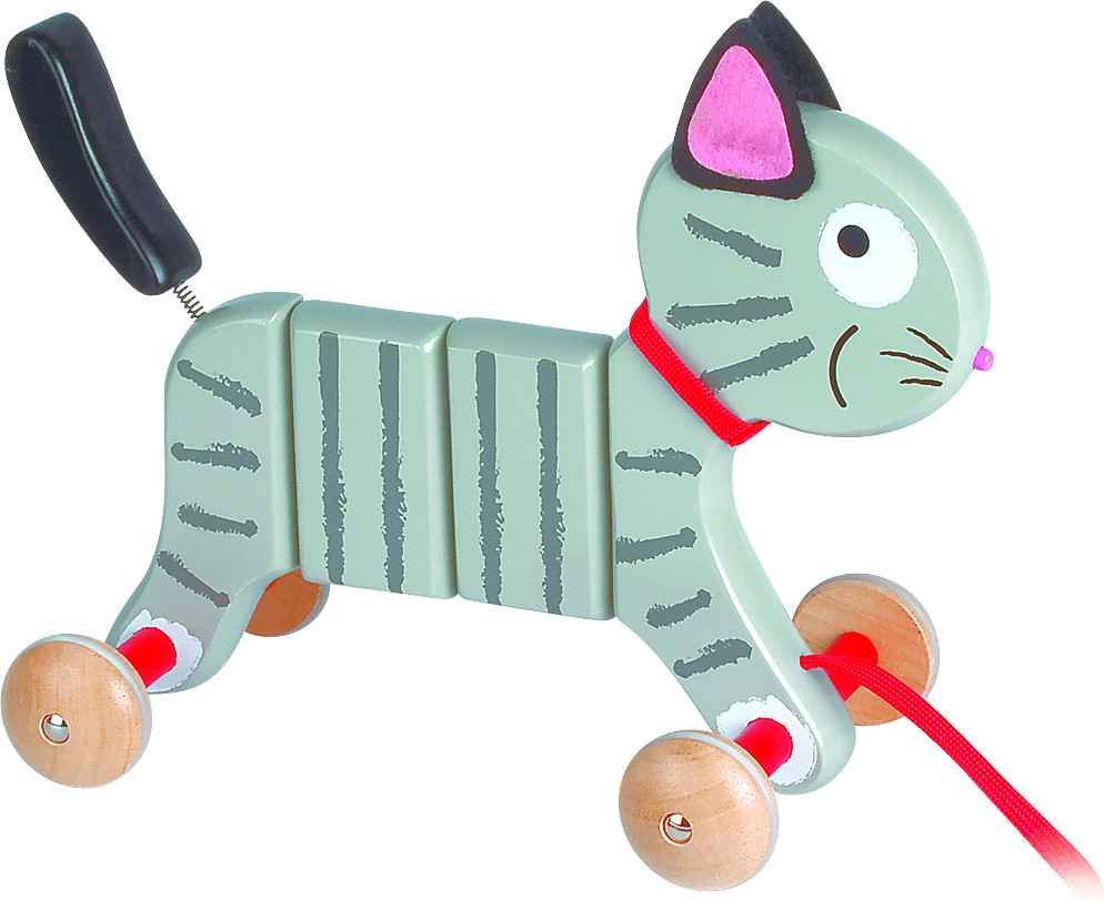 Janod Ziehspielzeug Katze Crazy Tigry