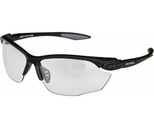 Alpina Twist Four Varioflex+ Sportbrille (Rahmenfarbe: 114 white/blue/anthracite, Scheibe: Varioflex black)