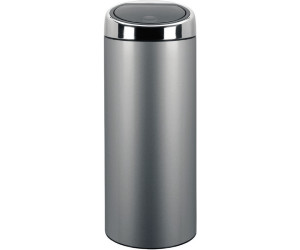 Touch Bin 30 Liter.Buy Brabantia Touch Bin 30 L Metallic Grey 287404 From
