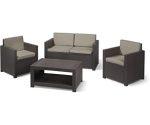 Allibert monaco lounge set ab 250 95 preisvergleich - Salon de jardin allibert hawaii lounge set ...