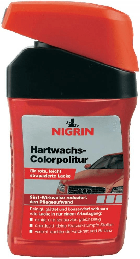 Nigrin Hartwachs-Colorpolitur rot (300ml)