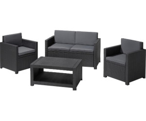 siena garden lounge set monaco 4 tlg ab 244 00 preisvergleich bei. Black Bedroom Furniture Sets. Home Design Ideas