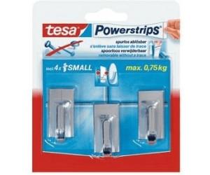 Tesa Powerstrips Small Classic Chrom 3 Haken 4 Strips Ab 415