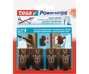 Tesa Powerstrips Vario Gardinenhaken Braun 4 Haken 6 Strips Small
