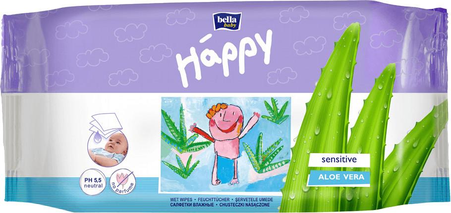 Bella Baby Happy Feuchttücher Sensitive 56 Stück