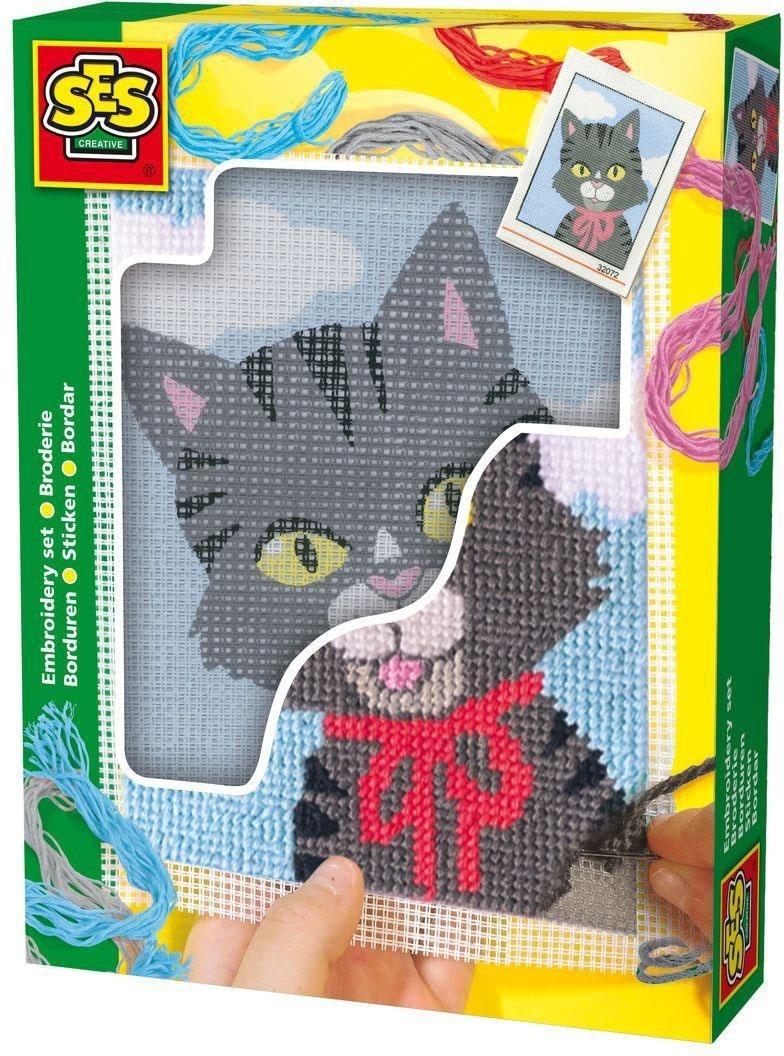 Creative Stickbild Kätzchen