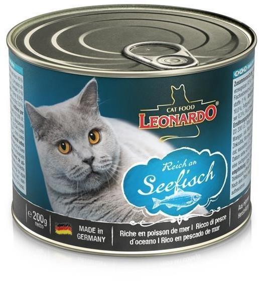 LEONARDO Cat Food Nassfutter Reich an Seefisch 200g