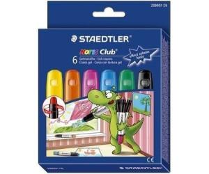 Staedtler Gelmalstifte Noris Club 6St sortiert 2390 C6 Rundspitze Basisfarben