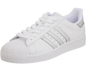 Adidas Superstar Sneaker Sportschuhe silber metallic weiß Gr