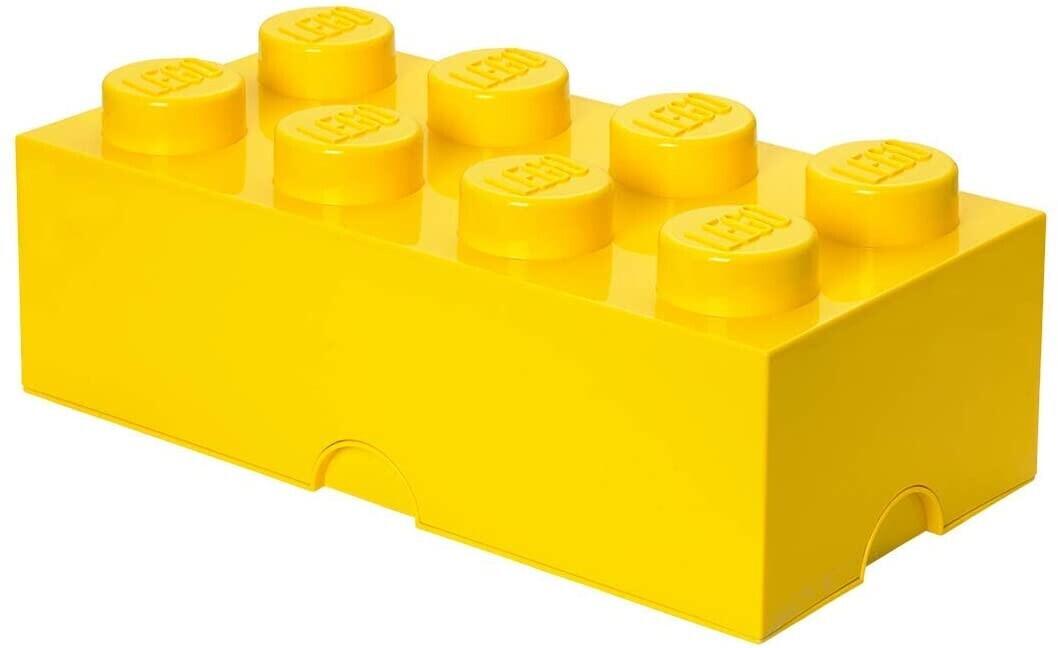 LEGO Aufbewahrungsstein 8 Noppen - gelb