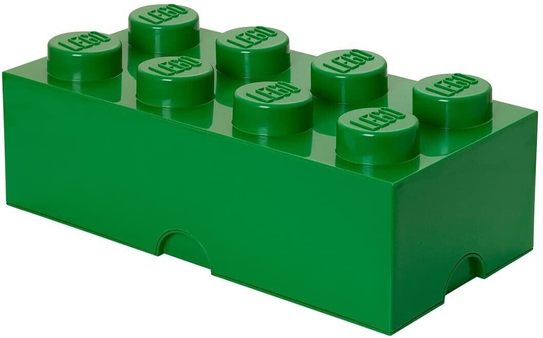 LEGO Aufbewahrungsstein 8 Noppen - grün