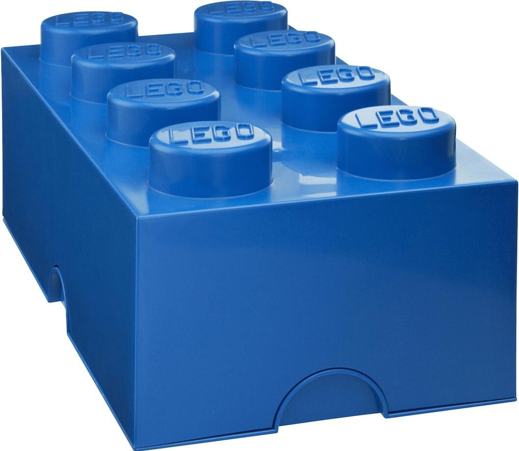 LEGO Aufbewahrungsstein 8 Noppen - blau