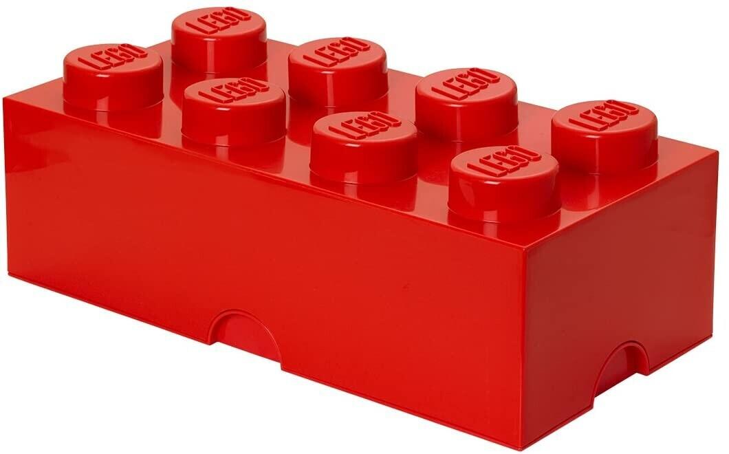 LEGO Aufbewahrungsstein 8 Noppen - rot