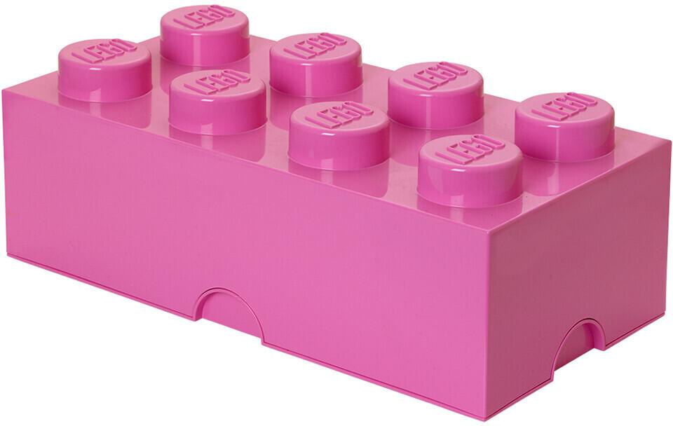 LEGO Aufbewahrungsstein 8 Noppen - pink