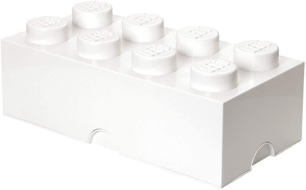 LEGO Aufbewahrungsstein 8 Noppen - weiß