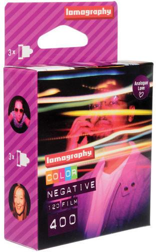 Image of Lomography 400 Color Negative 120 (3-pack)