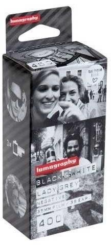 Image of Lomography 400 Lady Grey B&W 135/36 (3-pack)