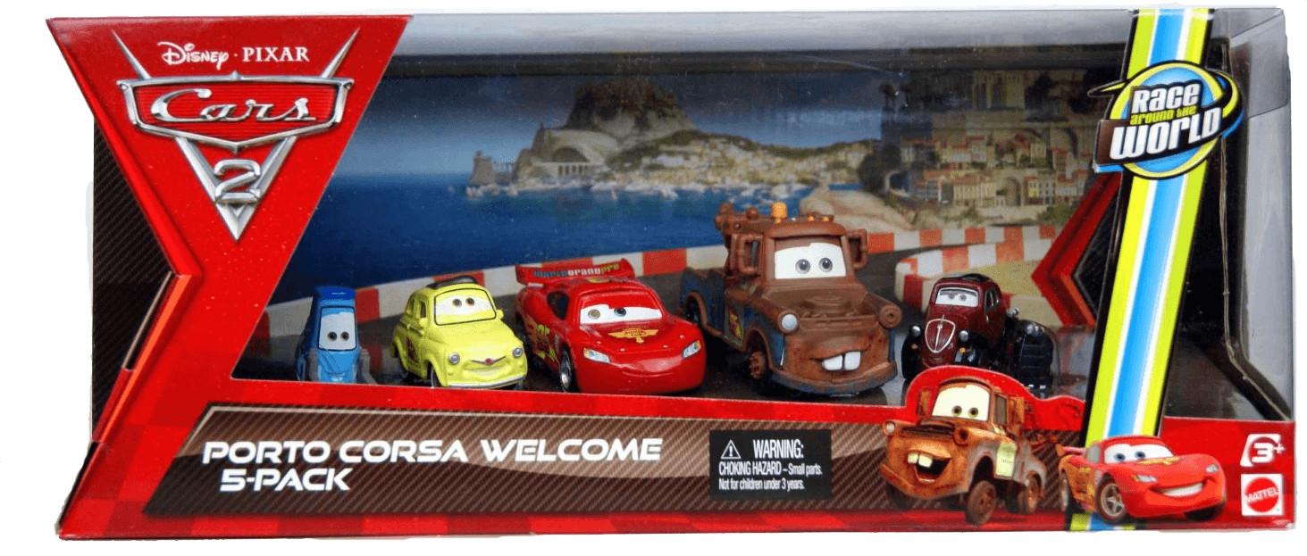 Mattel Disney Cars 2 - Porto Corsa Welcome 5-Pa...