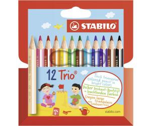 STABILO Dreikant-Buntstifte Malstifte Farbstifte Trio dick 12er Karton-Etui