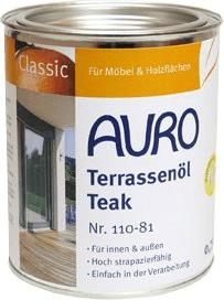 Auro Terrassenöl Teak 0,75 Liter (Nr. 110-81)