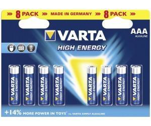 8er Pack VARTA AAA LR03 Batterie Micro ALKALINE 1,5V Batterien Longlife Power