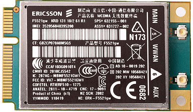 Hewlett-Packard HP hs2340 HSPA+ Mini Card (QC43...