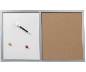 herlitz pinnwand und magnettafel holzrahmen 40x60cm ab 8 97 preisvergleich bei. Black Bedroom Furniture Sets. Home Design Ideas
