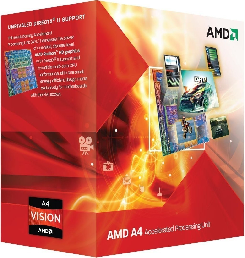 Image of AMD A4-3300 Box (Socket FM1, AD3300OJGXBOX)