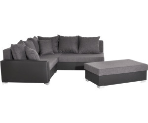 Delife lavello 210x210cm schwarz grau mit hocker ab 649 00 for Ecksofa puntiro