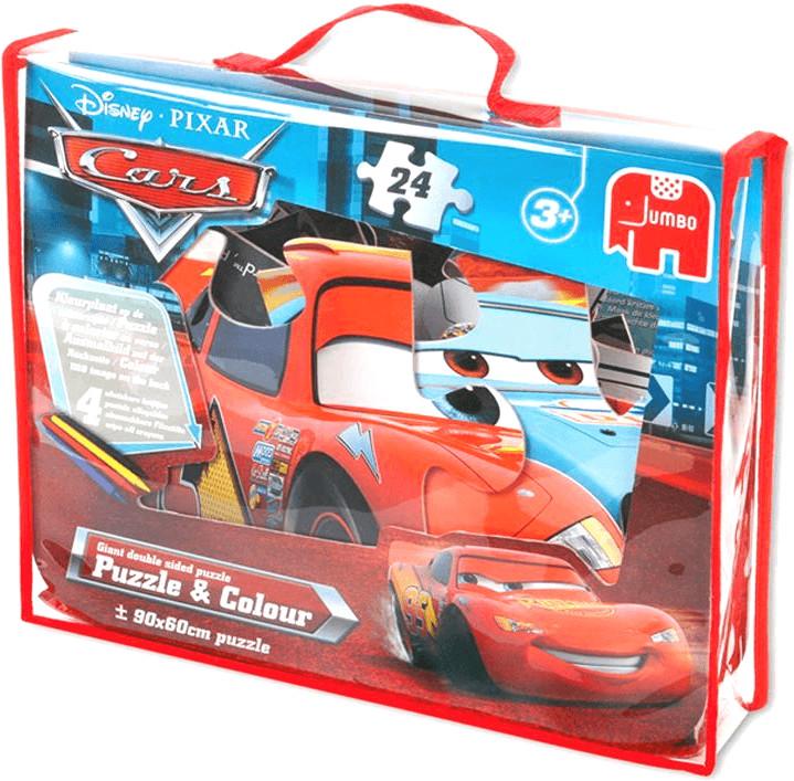 Jumbo Disney Cars - Puzzle & Colour (24 Teile)