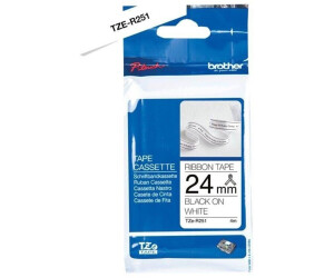 TZ251 TZe251 TZ TZe 251 Schwarz auf Weiß Schriftband Farbband für Brother 24MM