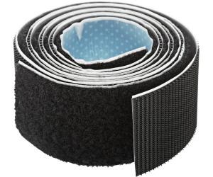 extra stark tesa Klettband zum Aufkleben schwarz 1m x Haft- und Flauschteil