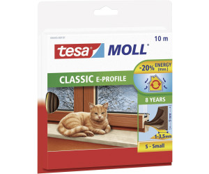 Tesa 5445 tesamoll Moll Classic E-Profil  Gummidichtung weiß 10m