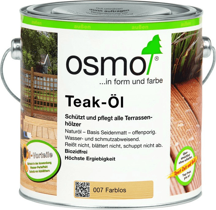 Osmo Teak-Öl farblos 2,5 l