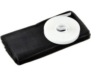 Standard Qualität tesa Fliegengitter für Fenster durchsichtig. schwarz anthrazit 1,3m:1,5m / 4er Pack, schwarz
