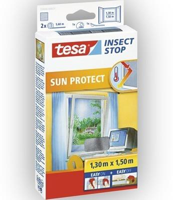 Tesa 55806-21 Fliegengitter mit Sonnenschutz (130 x 150 cm)