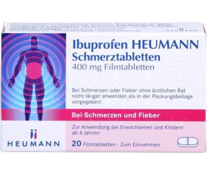 ibuprofen schmerztabletten 400 mg 20 stk ab 1 59 preisvergleich bei. Black Bedroom Furniture Sets. Home Design Ideas