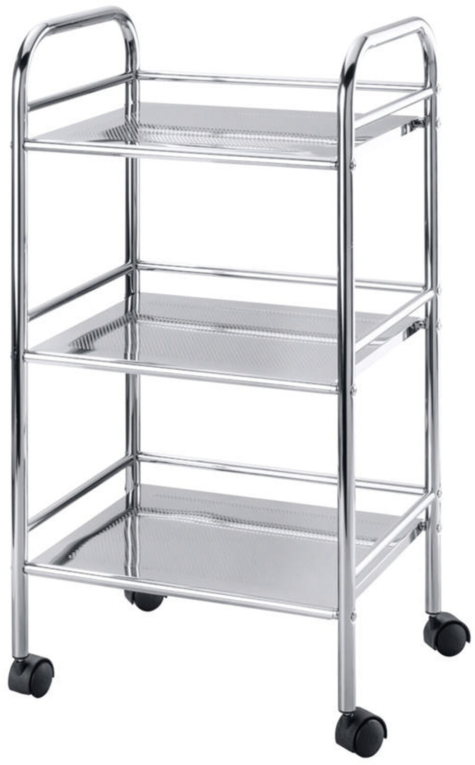 Wenko 3 Tier Shelving Trolley Chrome 12285100
