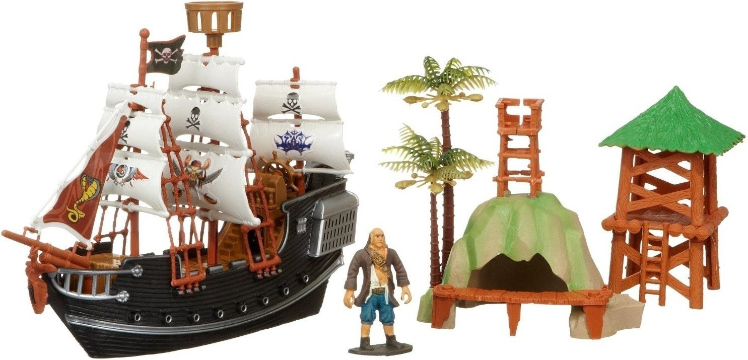 Rasehorn Piratenschiff mit Figur und Zubehör (3...