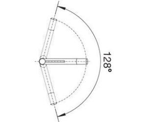 BLANCO ALTA-S Compact Armatur chrom Niederdruck 518448