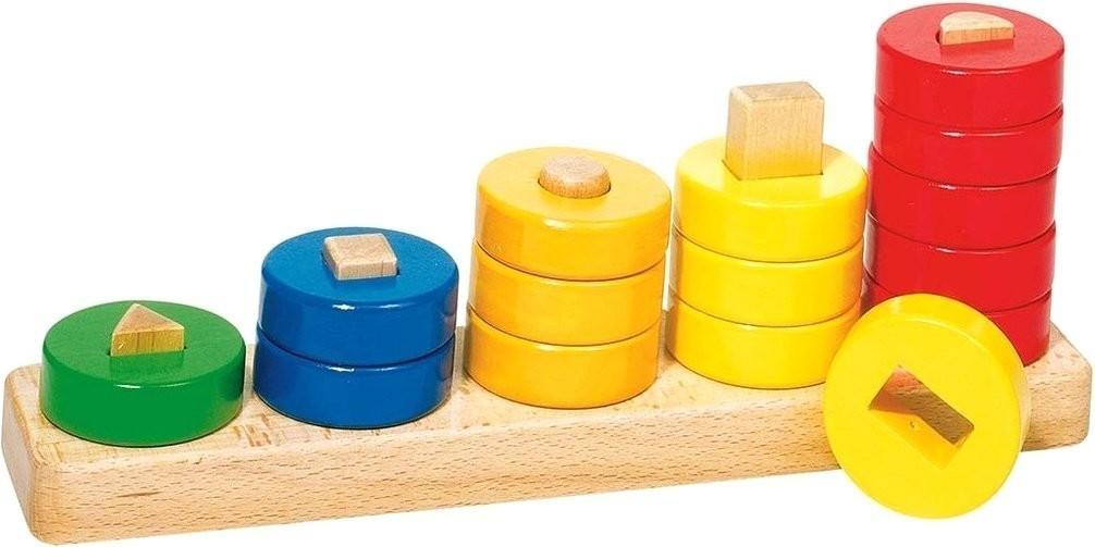Goki Sortierspiel Lerne Zählen mit Ringen