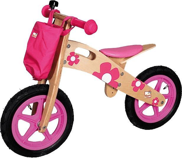 Bino Laufrad mit Lenkertasche rosa