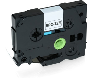 9mm TZ-221 TZe-221 Band Schwarz//Weiß Für Brother Label Drucker