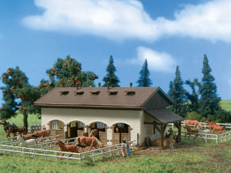 Vollmer Pferdekoppel mit Pferden (7719)