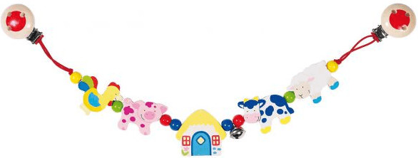 Heimess Pram Chain Farm Animals