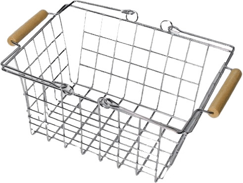 Legler Metalleinkaufs- und Fahrradkorb